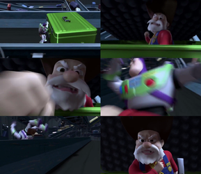 Toy Story 2 - The Prospector Punches Buzz by dlee1293847