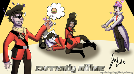 New stream offline poster for Brigadier Ketchup by FlightBotJetwing