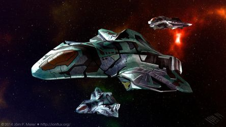 Heavy Space Fighter by IonfluxDA