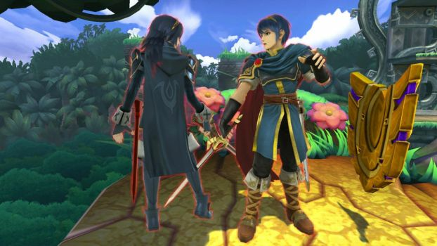 Marth and Lucina by user15432