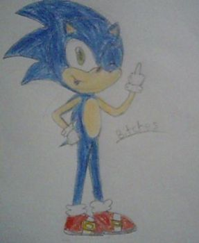 Sonic sketch by Fairmontrainer