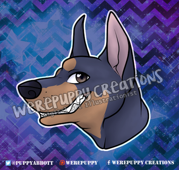 Doberman Design for March Tamer Charms by Werepuppy