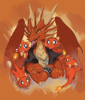 The Fifi Fire Dragons by The-SixthLeafClover
