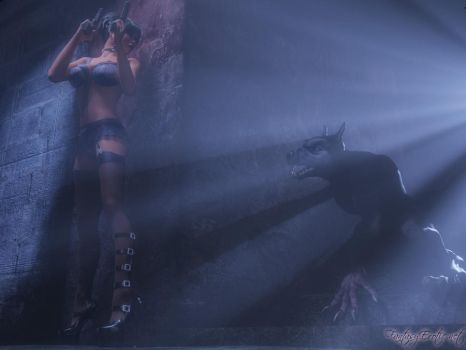 Jessica in Peril- The Werewolf by FantasyErotic