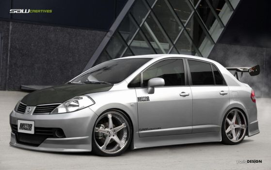 Nissan Tiida sedan_frontview by yasiddesign