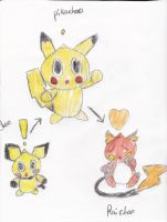 Pokechao: The Pika family by irodude