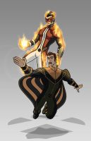 X-men Costume Redesign: Sunfire and Banshee by Hiroki8