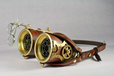 Steampunk Goggles by CraftedSteampunk