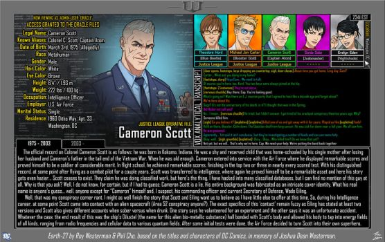 [Earth-27: Oracle Files] Cameron Scott (1/2) by Roysovitch