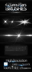 42 Lens Flare Brushes by FakeFebruary