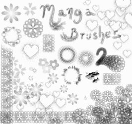Manga Brushes 2 by Lithe-Fider