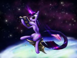 Advanced reading with Twilight Sparkle by Zolombo