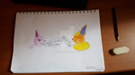 Espeon And Flareon by SophieSharkley