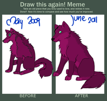 Before and after meme by Akira-Liz
