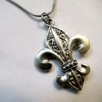 French Fleur De Lis Necklace by Om-Society