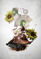 Scythe and Sunflowers by Pokie-Punk