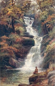 Vintage Europe - O'Sullivans Cascade, Killarney by Yesterdays-Paper