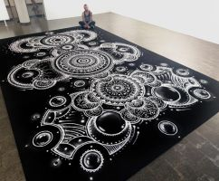 Large Salt mandala 4X6 meters by AtomiccircuS