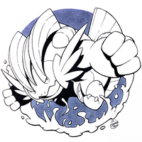 Inktober Day 28 - Mega Swampert by Orangetavi