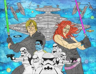 Heir to the Empire Stained Glass by jmascia