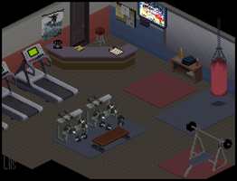 At The Gym by lenstu82