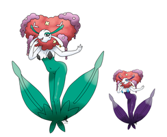 no.671 Florges (Red) by pitch-black-crow