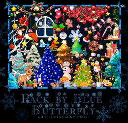 Pack by Blue Butterfly PNG 60 Christmas by Butterfly-Blue-B