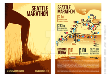 Seattle Marathon - Poster by clindhartsen