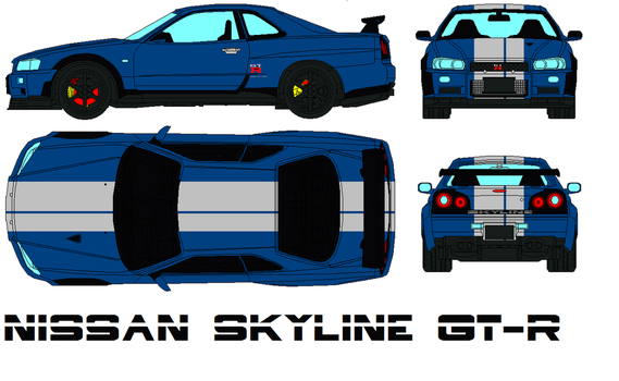 Nissan Skyline  GT-R by bagera3005