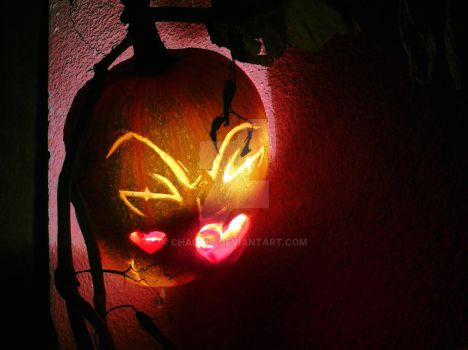 Evanescence Pumpkin by Chaotiv