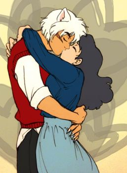 30s AU: InuKag kisses by ArtisteFish