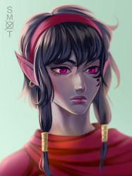 Nisha of the Moonblade by Smoxt