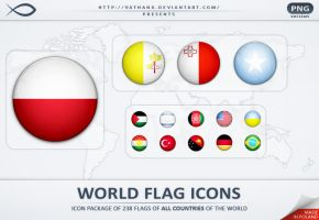 World Flag Icons PNG by Vathanx