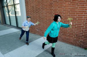 Wreck It Ralph - Vanellope and Felix by president-gigantor