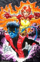 Nightcrawler And Rachel Grey by ToddNauck