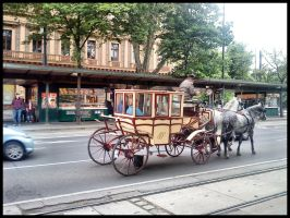 Fiacre, Traditional Horse-Drawn Carriage, Vienna by Charmadige