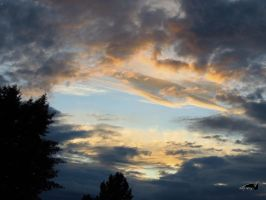 The Sky With Golden Tinges by wolfwings1