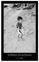 Playing At The Beach BW by carnine9