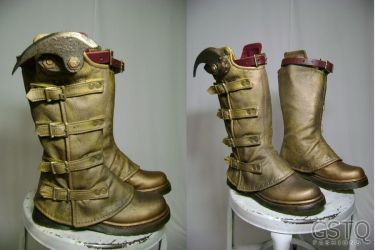 Steampunk Flash Boots by gstqfashions
