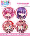 Doki Doki Literature club button set by jinyjin