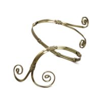 Wire Wrapped Spiral Armband by hyppiechic
