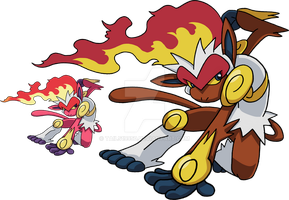 392 - Infernape - Art v.2 by Tails19950