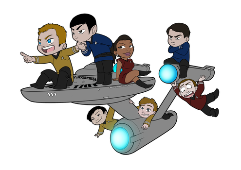 Chibi adventure Star Trek by Luzerrante