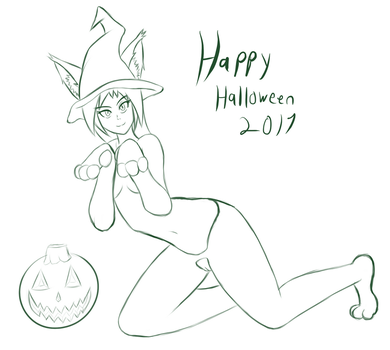 Halloween 2017 Sketch by ZokuArts