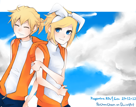 Kagamine Twins -Blue Sky by Poichanchan