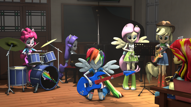 [SFM]Rainboom Rehearsal (updated) 4k2k by OC1024
