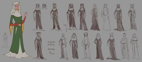 XIVe - Women of the Centuries - WIP by lepetitgroin