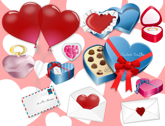Valentines Day Cliparts by gnokii