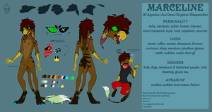 FURSONA REFERENCE SHEET 2017 by Shiro-Daemon