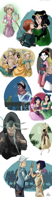 W.I.T.C.H. Disney Princesses crossover by ToscaSam